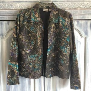 Chico's Silk Open Front Jacket